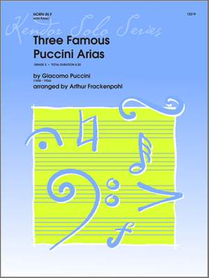 Puccini, G: Three Famous Puccini Arias