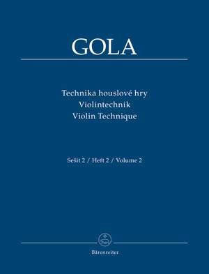 Gola, Zdenek: Violin Technique, Volume 2