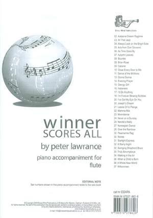 Winner Scores All Piano Accompaniment for Flute