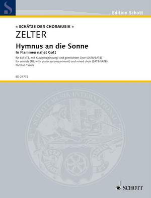 Zelter, C F: Hymnus an die Sonne Product Image