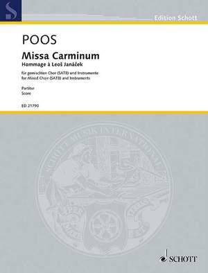 Poos, H: Missa Carminum
