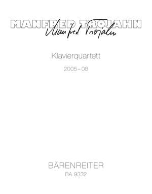 Trojahn, Manfred: Piano Quartet