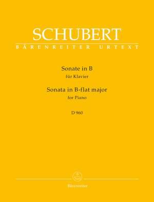 Schubert, Franz: Sonata for Piano B-flat major D 960