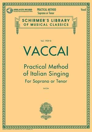 Nicola Vaccai: Practical Method of Italian Singing
