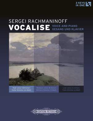 Rachmaninov: Vocalise for voice and piano (3 keys)