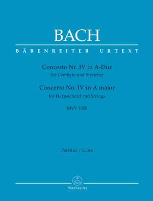 Bach, Johann Sebastian: Concerto for Harpsichord and Strings no. 4 A major BWV 1055