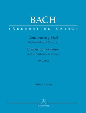 Bach, Johann Sebastian: Concerto for Harpsichord and Strings G minor BWV 1058