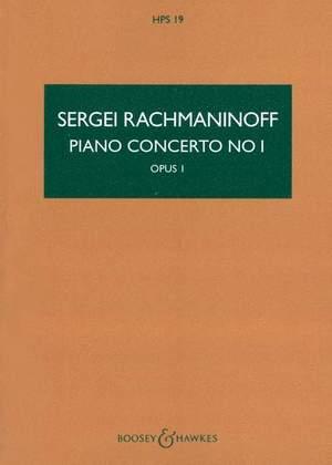 Rachmaninoff, S W: Piano Concerto No. 1 f sharp minor op. 1  HPS 19
