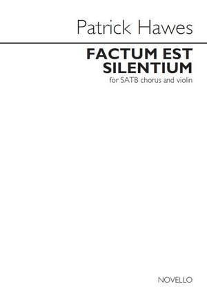 Patrick Hawes: Factum Est Silentium Product Image
