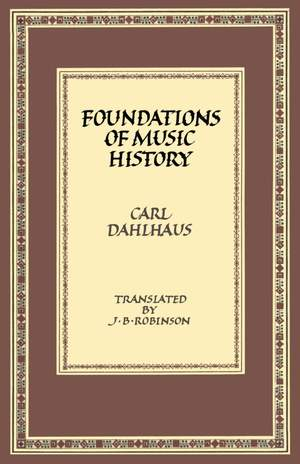 Foundations of Music History