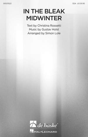 Gustav Holst: In the Bleak Midwinter