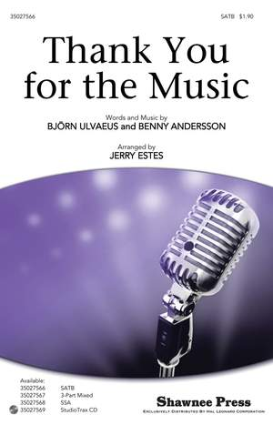 Abba Thank You For Music Estes Satb Product Image