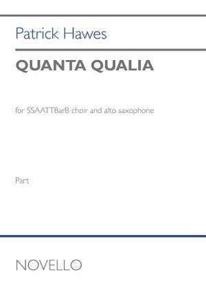 Patrick Hawes: Quanta Qualia (Alto saxophone part) Product Image