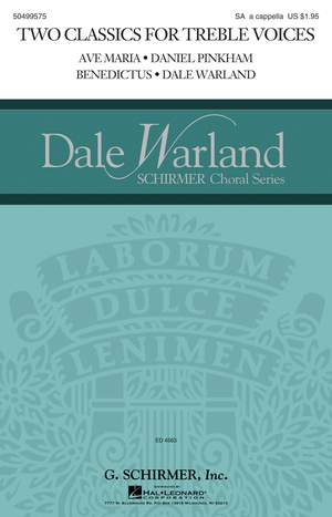 Dale Warland_Daniel Pinkham: Two Classics for Treble Voices