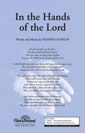 Pepper Choplin: In the Hands of the Lord