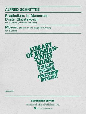Alfred Schnittke: Praeludium in Memoriam Dmitri Shostakovich