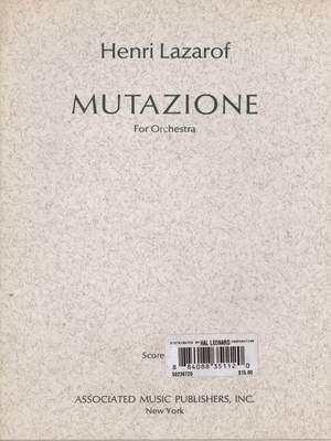 Henri Lazarof: Mutazione (1967)