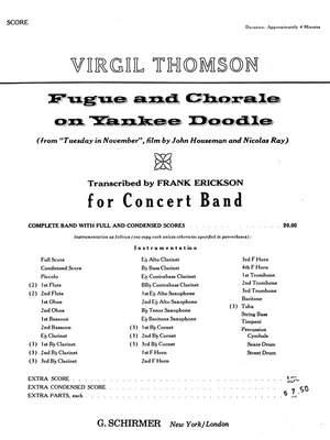 Virgil Thomson: Fugue And Chorale On Yankee Doodle - Full Score Product Image