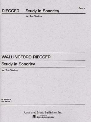 Wallingford Riegger: Study in Sonority, Op. 7