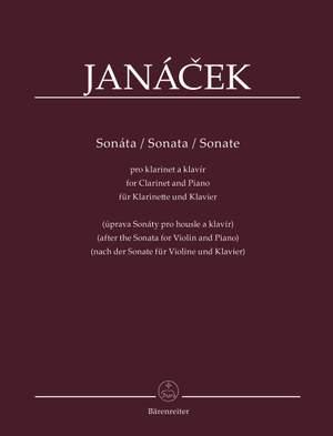 Janácek, Leos: Sonata for Clarinet and Piano