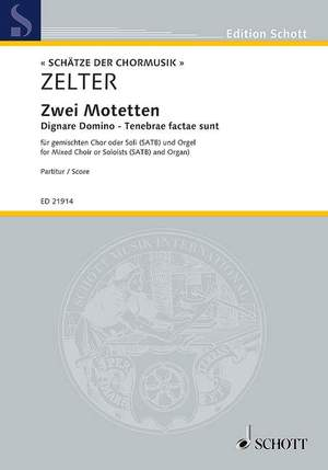 Zelter, C F: Two Motets Product Image