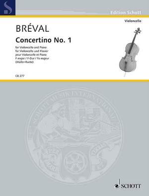 Bréval, J B: Concertino No. 1 F major
