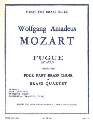 Wolfgang Amadeus Mozart: Fugue K401