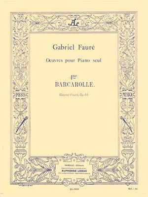Gabriel Fauré: Barcarolle For Piano No.4 In A Flat Op.44
