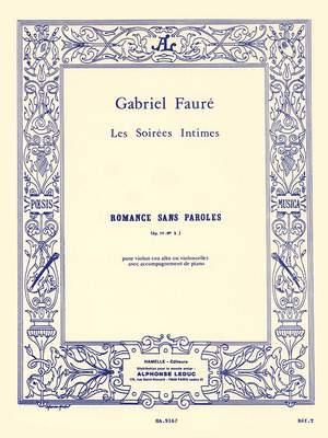 Gabriel Fauré: Romance Sans Paroles Op.17 No.3