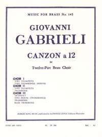 Giovanni Gabrieli: Giovanni Gabrieli: Canzon a 12