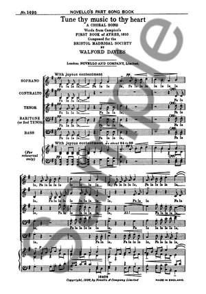 H. Walford Davies: Tune Thy Music To Thy Heart