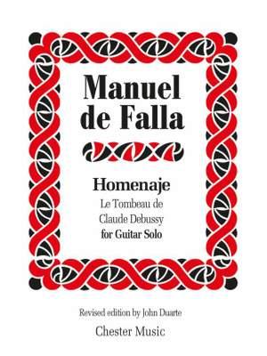 Manuel de Falla: Homenaje (Hommage) Le Tombeau De Claude Debussy