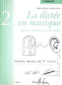 Menut/Chepelov: La dictée en musique Vol.2 - corrigé