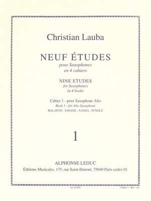 Christian Lauba: Neuf Etudes pour Saxophones