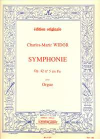 Widor: Symphonie op 42 no 5 en FA pour orgue
