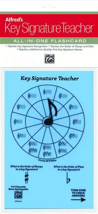 Alfred's Key Signature Teacher: All-In-One Flashcard (Blue)