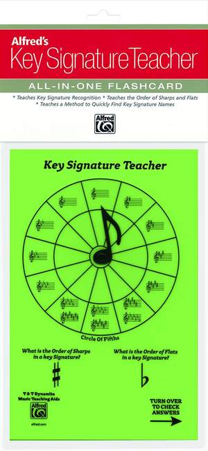 Alfred's Key Signature Teacher: All-In-One Flashcard (Green)