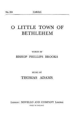 Thomas Adams: O Little Town Of Bethlehem