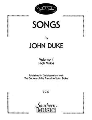 John Duke: Songs By John Duke, Vol. 1
