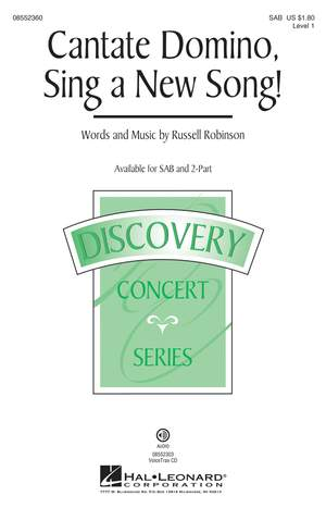 Russell L. Robinson: Cantate Domino, Sing a New Song! Product Image