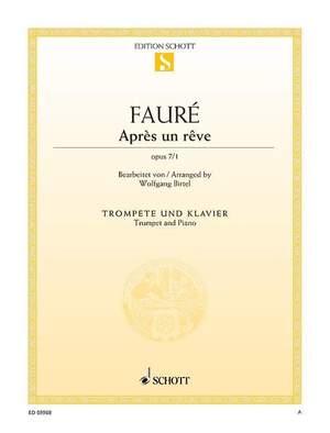 Fauré, G: Après un rêve op. 7/1