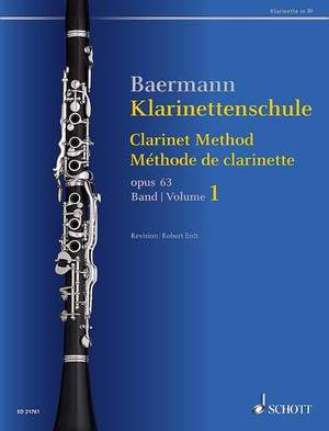 Baermann, C: Clarinet Method op. 63 Band 1: No. 1-33 Product Image