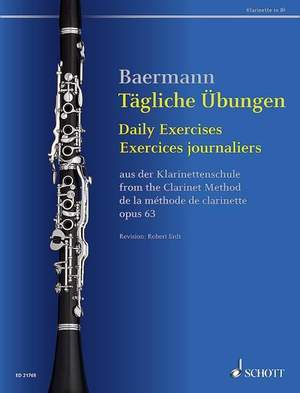 Baermann, C: Daily Exercises op. 63 Product Image