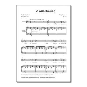 Rutter: A Gaelic Blessing (Unison)