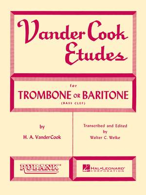 H.A. VanderCook: Vandercook Etudes for Trombone or Baritone