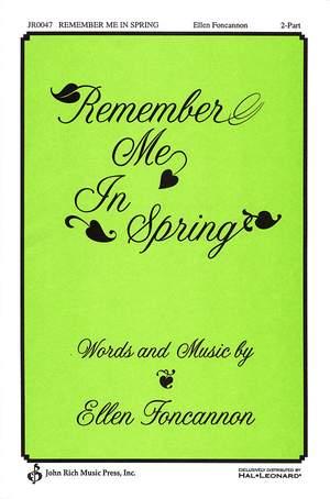 Ellen Foncannon: Remember Me in Spring