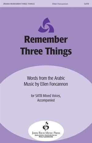 Ellen Foncannon: Remember Three Things Product Image