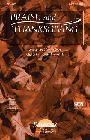 David Lantz III: Praise and Thanksgiving Product Image