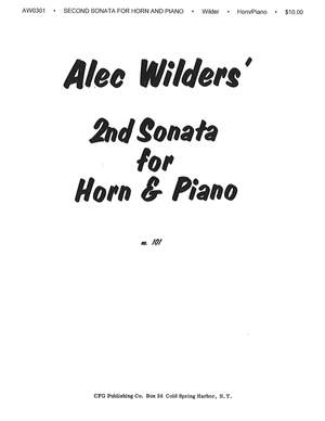 Alec Wilder: Sonata No. 2 for Horn and Piano