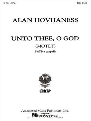 Alan Hovhaness: Unto Thee, O God